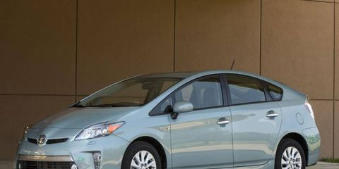 The 2013 Toyota Prius Plug-In was available for drives at the Hybrid World Tour event.