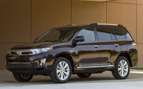The 2013 Highlander Hybrid also made an appearance at the Hybrid World Tour event.