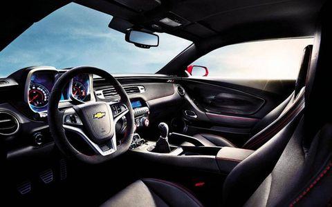 The interior of the Camaro ZL1 convertible.