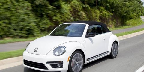 The Volkswagen Beetle Turbo Convertible has a 2.0-liter turbocharged I4 engine, giving the beetle a little pep in its step.