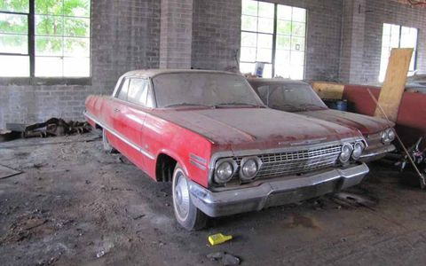 This 1963 Chevrolet Impala two-door hardtop has sat inside the dealership.