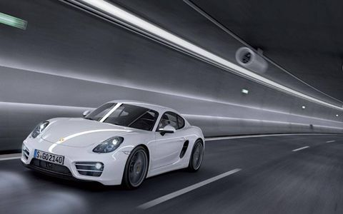 The 2014 Porsche Cayman starts out at a base price of $53,550.
