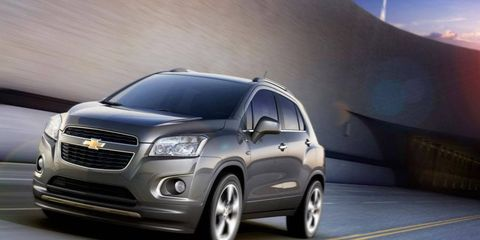 The Chevrolet Trax premiered at the Paris motor show Thursday.