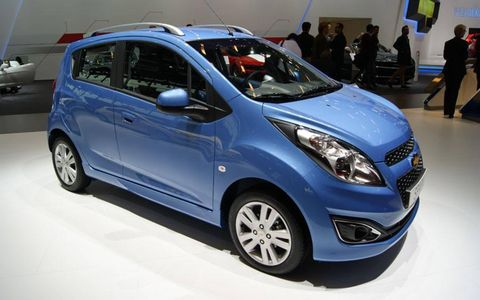 The Chevrolet Spark at the Paris motor show.