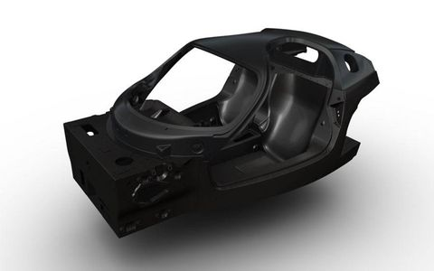 The F70 chassis makes use of several different kinds of carbon fiber.