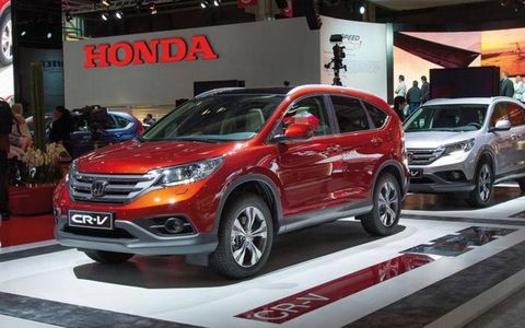 Honda used the Paris motor show to present the redesigned CR-V crossover to European audiences.