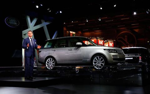Gerry McGovern talks about the 2013 Range Rover at the Paris auto show.