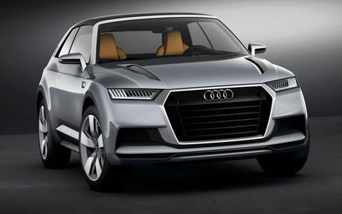 Styling of the Audi Crosslane Coupe concept will appear on all Audi crossovers.