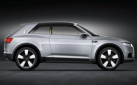 The Audi Crosslane Coupe concept previews a Q2 production crossover.