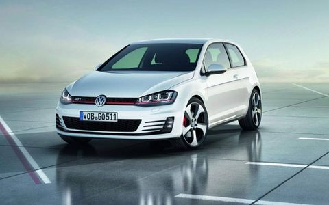 Volkswagen introduced the new GTI at the Paris motor show.