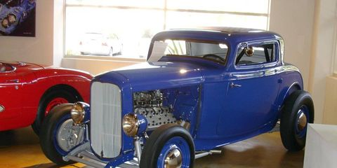 Want an authentic hotrod? This perfectly restored '32 Ford competition coupe was built in 1950, won multiple class records at Bonneville and El Mirage and drag raced in the 1950s. Now back to original with Mercury flathead power.