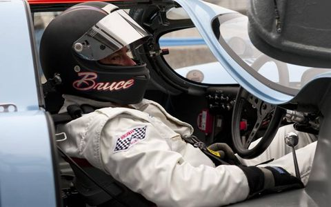 Bruce Canepa behind the wheel of a Porsche 917 at last year's Rennsport Reunion at Mazda Raceway Laguna Seca.