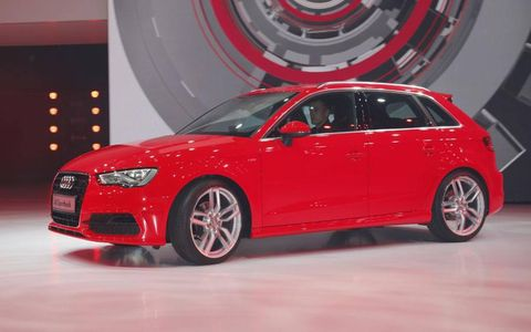 Audi unveiled the RS5 and A3 Sportback at Paris auto show.