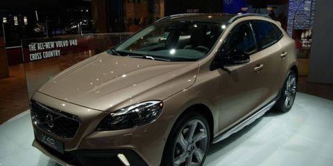 The Volvo V40 Cross Country was revealed at the Paris motor show Thursday.
