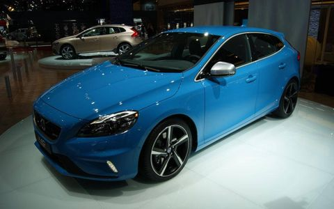 The Volvo V40 R-Design at the Paris motor show.