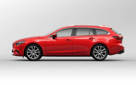 The Mazda 6 wagon shown at the Paris motor show employs SkyActiv engine technology and the new i-ELOOP capacitor-based regenerative energy capture system.