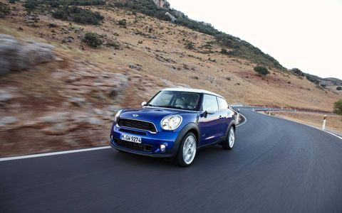 The 2013 Mini Paceman debuted at the 2012 Paris motor show.