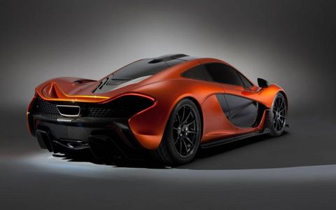 Engine specs were not released at the Paris motor show debut, but we know the McLaren P1 will be blindingly fast.