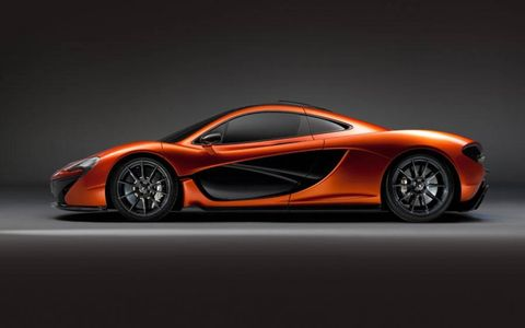 Like its McLaren stablemates, also on display at the Paris motor show, the P1 boasts carbon-fiber monocoque construction. Scoops and ducts enhance aerodynamics.