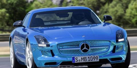 Mercedes-Benz describes the SLS AMG Coupe Electric Drive as the world's most powerful series production electric car.