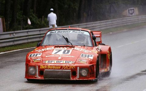 Paul Newman drove this Dick Barbour Racing Porsche 911 in the 24 Hours of Le Mans in 1979.