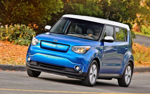 "Kia could've called this vehicle the ""Electric Soul."" Instead, it gave it the equally factual moniker ""Soul EV."""