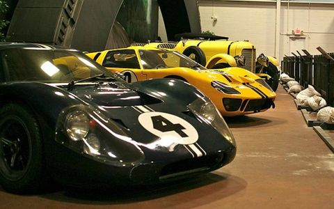 A pair of Ford GT40's that ran at Le Mans.