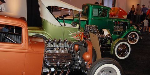 A row of hot rods.