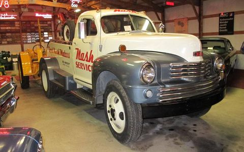 From the Saturday tour, the Nash towtruck is in the Havekost collection in Monroe