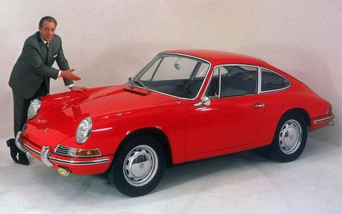 An early example of what has become the iconic Porsche 911.