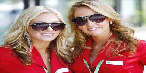 Grid girls from Down Under--Australian Grand Prix
