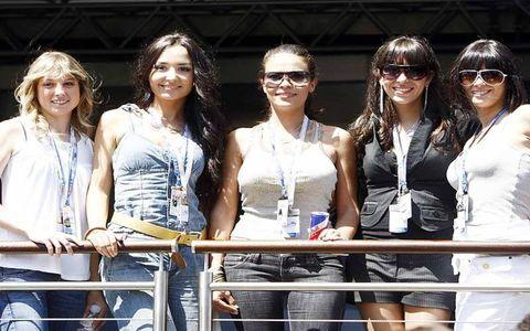 Grid girls in Barcelona--Spanish Grand Prix