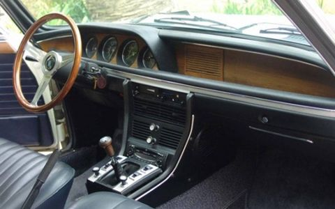 Inside the 1970 BMW E9 2800CS for sale on Bring a Trailer.
