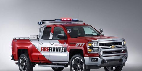 Like the Black Ops, the Chevy Silverado Volunteer Firefighter gets unique equipment.