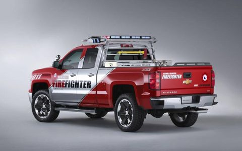The Chevy Silverado Volunteer Firefighter is based on the Crew Cab pickup.