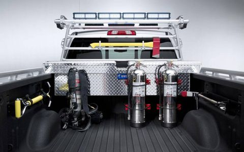 The Chevy Silverado Volunteer Firefighter was designed partially by volunteer firefighters.