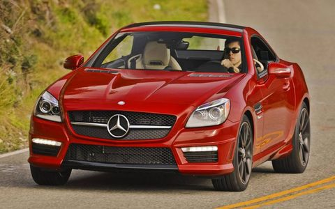 The 2013 Mercedes-Benz SLK55 AMG starts out at a base price of $67,990.