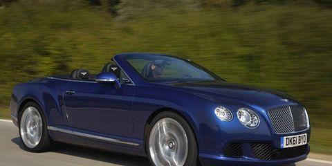 Front driving shot of 2012 Bentley GTC
