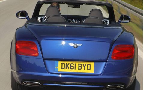 Rear view of the 2012 Bentley GTC