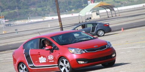 Kia is the official vehicle and presenting sponsor of the BRAKES teen driving school.