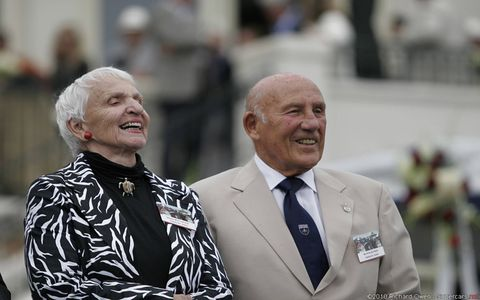 Denise and Stirling Moss at Pebble.