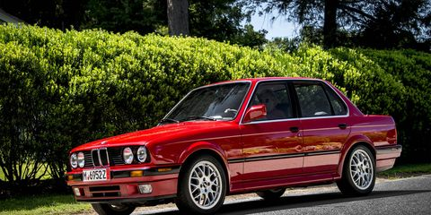 The 325iX sedan was the first all-wheel drive model in BMW's lineup, though the U.S. was denied the station wagon version (and is still bitter about it).