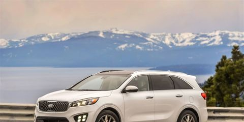 The all-new 2016 Sorento offers a number of safety features, including seatbelt anchor pretensioners and six airbags.