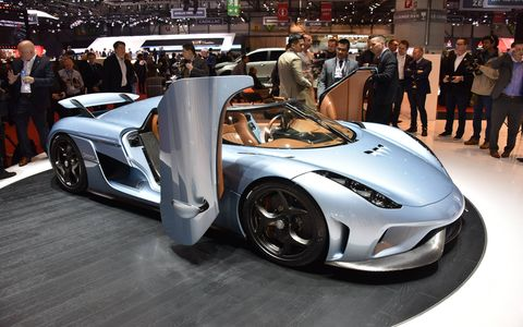 The Koenigsegg Regera made its debut at the 2015 Geneva motor show
