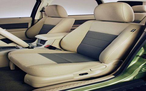 Seats in 2009 Ford Escape.