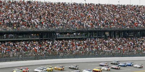 Tony Stewart leads the pack