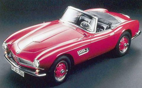 1956-59 BMW 507: Importer Max Hoffman persuaded BMW to build the beautiful Albrecht Graf von Goertz-designed 507 roadster, the idea being to revive BMW's sporty image. Performance was more modest than the looks, though, and production costs inflated the price to $9,000 from the intended $5,000. BMW ended up on the brink of bankruptcy. Only 252 production cars were built between 1956 and '59, when BMW finally pulled the plug.