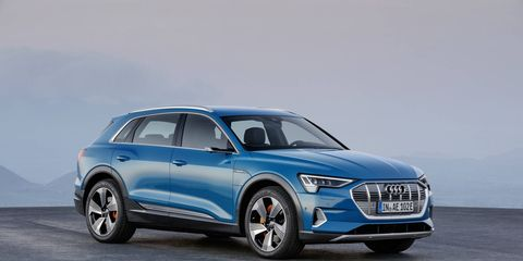 The 2019 Audi e-tron crossover will be the company's first all-electric vehicle.