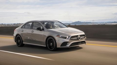 The 2019 Mercedes-Benz A220 4Matic sedan gets a 2.0-liter turbocharged I4, a seven-speed dual-clutch and AWD.