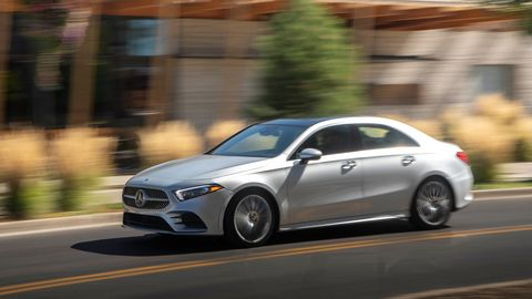 the 2019 mercedes benz a220 4matic sedan gets a 20 liter turbocharged i4, a seven speed dual clutch and awd